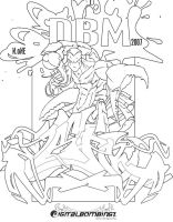 DBm Scorpion King uncolored by SikWidInk