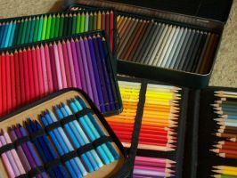 Colored Pencils Display by robertsloan2