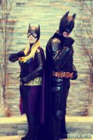 Batgirl and Batman by Evea
