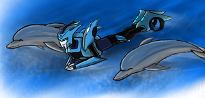 Blurr dolphin by Primeval-Wings