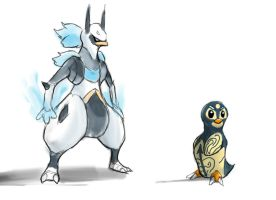 Penguin from the west side by Yogurtleague