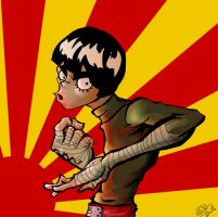 ROCK LEE by derekblairart