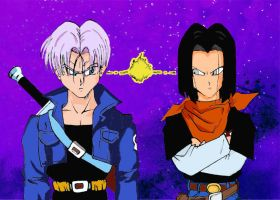 Mirai no Trunks and Android 17 pissed off by Kuchendiebin