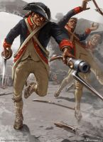 US revolutionary soldier by swat3d