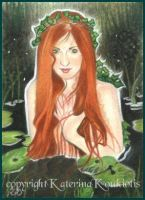 Nereid - ACEO by Katerina-Art