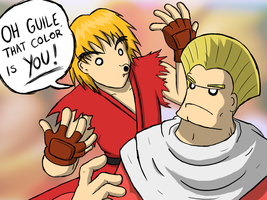OH GUILE, THAT COLOR IS YOU by zack-materia-hunter
