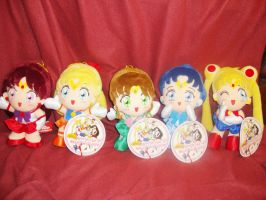 Sailor Moon World plush dolls by DeepblueIchigo