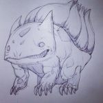 Realistic Bulbasaur - Pokemon by SketchMonster1