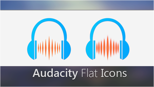 Audacity Flat Icons by Dipasnhu9093 by dipanshu9093