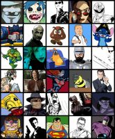 30 Characters Meme by manson26