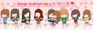 HAPPY SOSHIVERSARY by maknaeheart