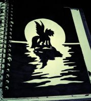silhouette practice  by Kaboderp-sketchy