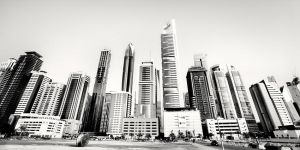 Sheikh Zayed Skyscrapers Dubai by xMEGALOPOLISx