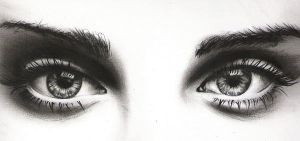 Eyes - charcoal by Amyshambles