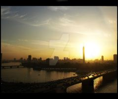 Sunset Over Cairo by Black-Rose-Angel