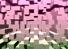 Background crea_cubes-Bg-pink by Aimelle-Stock