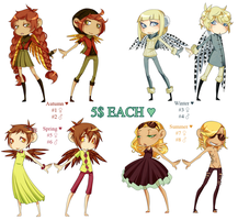 Seasons Adoptables by DGAdopts