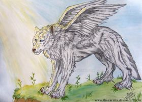 Winged Wolf by TheKarelia