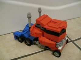 Lego optimus Truck mode view by jnkwarrior
