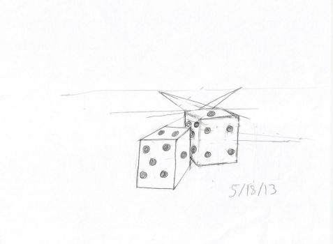Day 15 : Dice ( Practice of more perspective) by DecoraAi