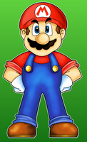 Mega Mario by MushroomWorldDrawer