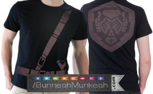 Hero Of Hyrule Crew Neck Front And Back by Bunneahmunkeah