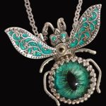 Cabinet Of Curiosities Bug Necklace by byrdldy