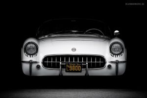 1954 Chevrolet Corvette C1 Front by AmericanMuscle
