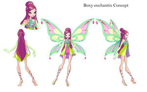 Winx Club. Roxy Enchantix Concept by fantazyme