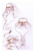 Hobbit Sketches - 01 - Dwarves by AndyIomoon