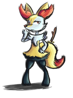 Braixen by Zaptagon