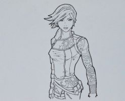 Commission: Lilith from Borderlands Sketch by abe70280