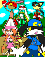 Klonoa and the crew by Firewarrior117
