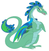 A Dragon named Peacock by Sunley