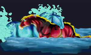 Dragon and the Lake - W.I.P by FireSkip