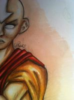 Older Aang in avatar state! by LilliandilRosetta