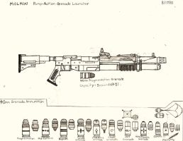 M125 Pump Action Grenade Launcher by RedW0lf777sg