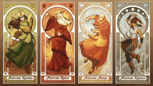 Art Nouveau Avatars - The Four Seasons (Reorder) by swadeart