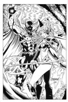 Spawn Angela inks by madman1