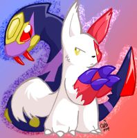 Zangoose and Seviper by raizy