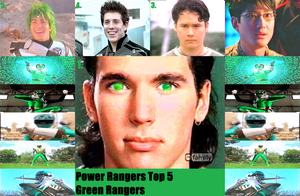Top 5 Green Rangers by JNTA1234