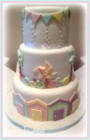 Pretty in Pastels Wedding Cake by gertygetsgangster