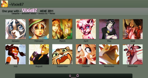 2011 summary of art by VixieArts