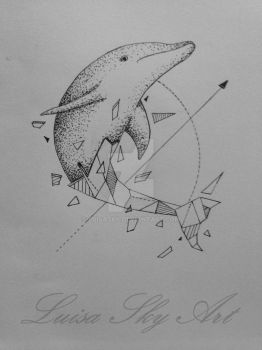 Dolphin sketch by LuisaSky