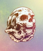 Chomp Skull Color by KillerNapkins
