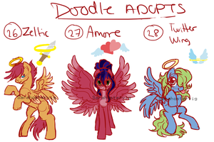 Doodle pony adopts adopts 10 CLOSED by Sarahostervig