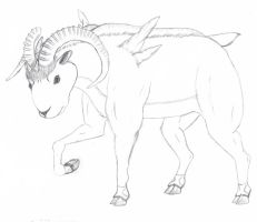 Realistic Terrakion (Not Colored) by sable-king