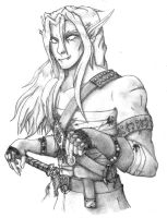 Blood Elf Rogue Sketch by Gabriel-Forgotten