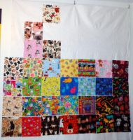 Judi cat quilt WIP 6-30-13 by wiccanwitchiepoo