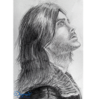 Jared Leto portrait by dinamata